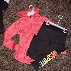 🆕 reebok girls size 1012 top and bottom
